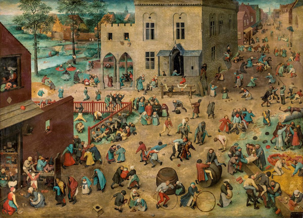 Pieter Bruegel d.Ä., Kinderspiele, 1560. KHM Wien