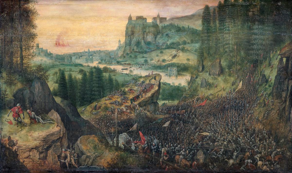 Pieter Bruegel d.Ä., Selbstmord Sauls, 1562. KHM Wien