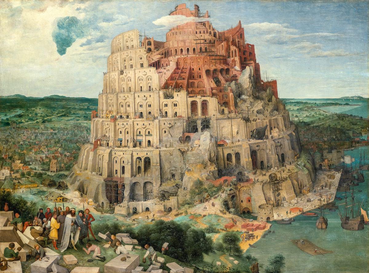 Pieter Bruegel d.Ä., Turmbau zu Babel, 1563. KHM Wien