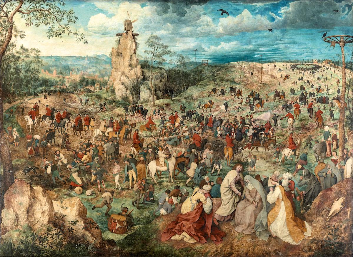 Pieter Bruegel d. Ä., Kreuztragung Christi, 1564. KHM Wien