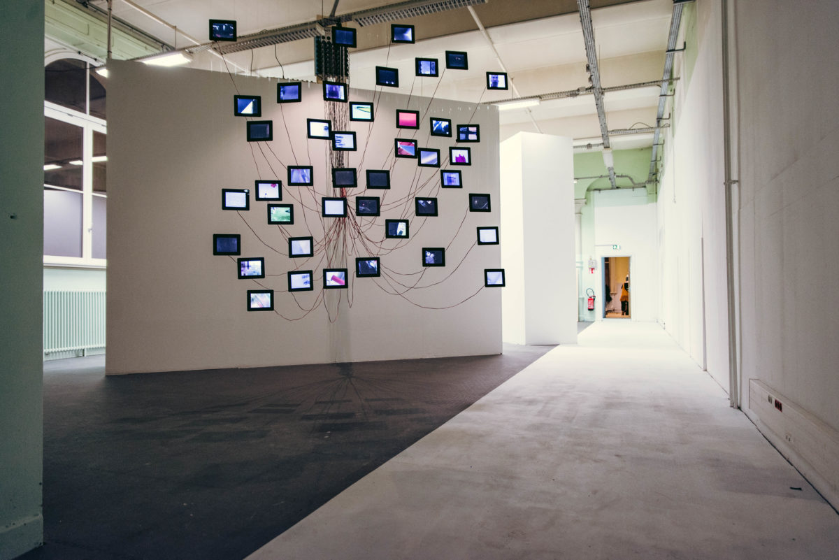 Florian Mehnert Menschentracks, 2014 Strasbourg Biennale, Touch Me - Being a Citizen in the Digital Age, Installation View, 22.12.2018 - 03.03.2019 Photo: © Ben Hincker
