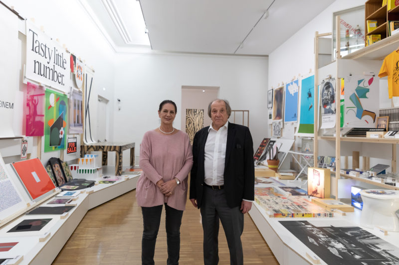 Petra Schilcher und Ralph Schilcher in der Ausstellung. Foto Universalmuseum Joanneum/N. Lackner