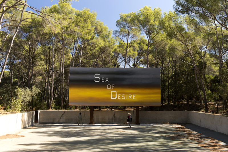Ed Ruscha, Sea of Desire, Foto Marc Domage, Fondation Carmignac