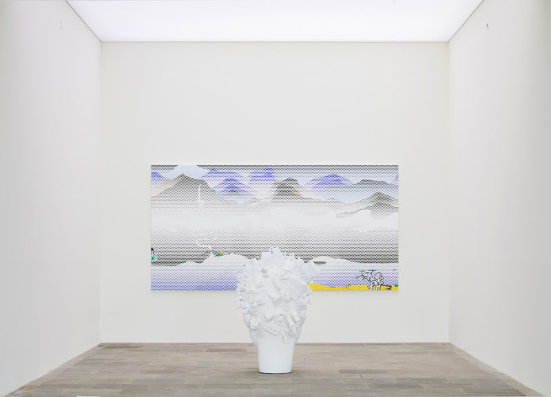 Maurizio Cattelan, Untitled, 2019 – Roy Lichtenstein, Landscape with Scholar's Rock, 1996. Fondation Carmignac
