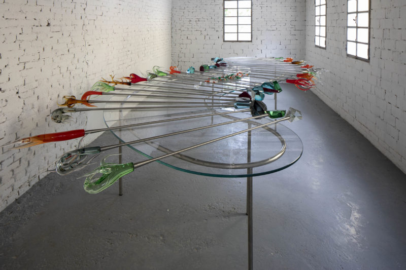 Carlos Garaicoa Fragile Garden, 2019 Glass, metal, Variable dimensions (installation) © Francesco Allegretto