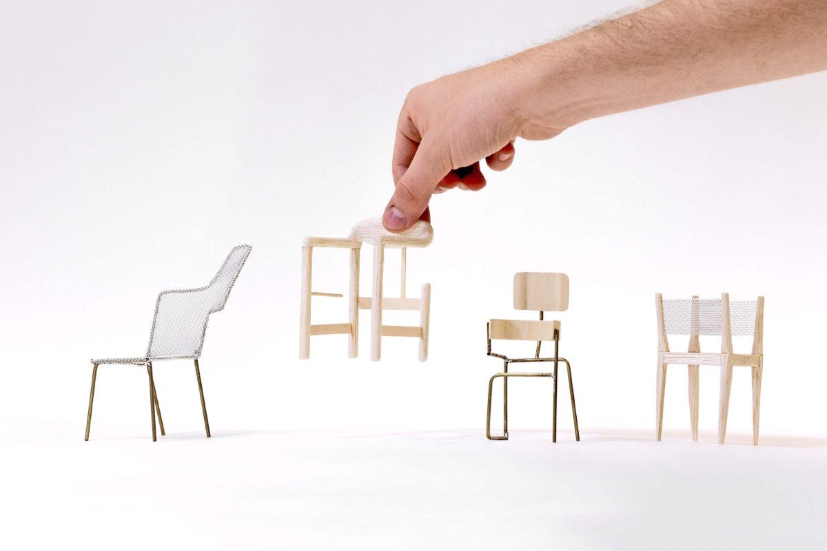 Modelle von Philipp Schmitt und Steffen Weiss, The Chair Project (Four Classics), 2019 © Philipp Schmitt und Steffen Weiss