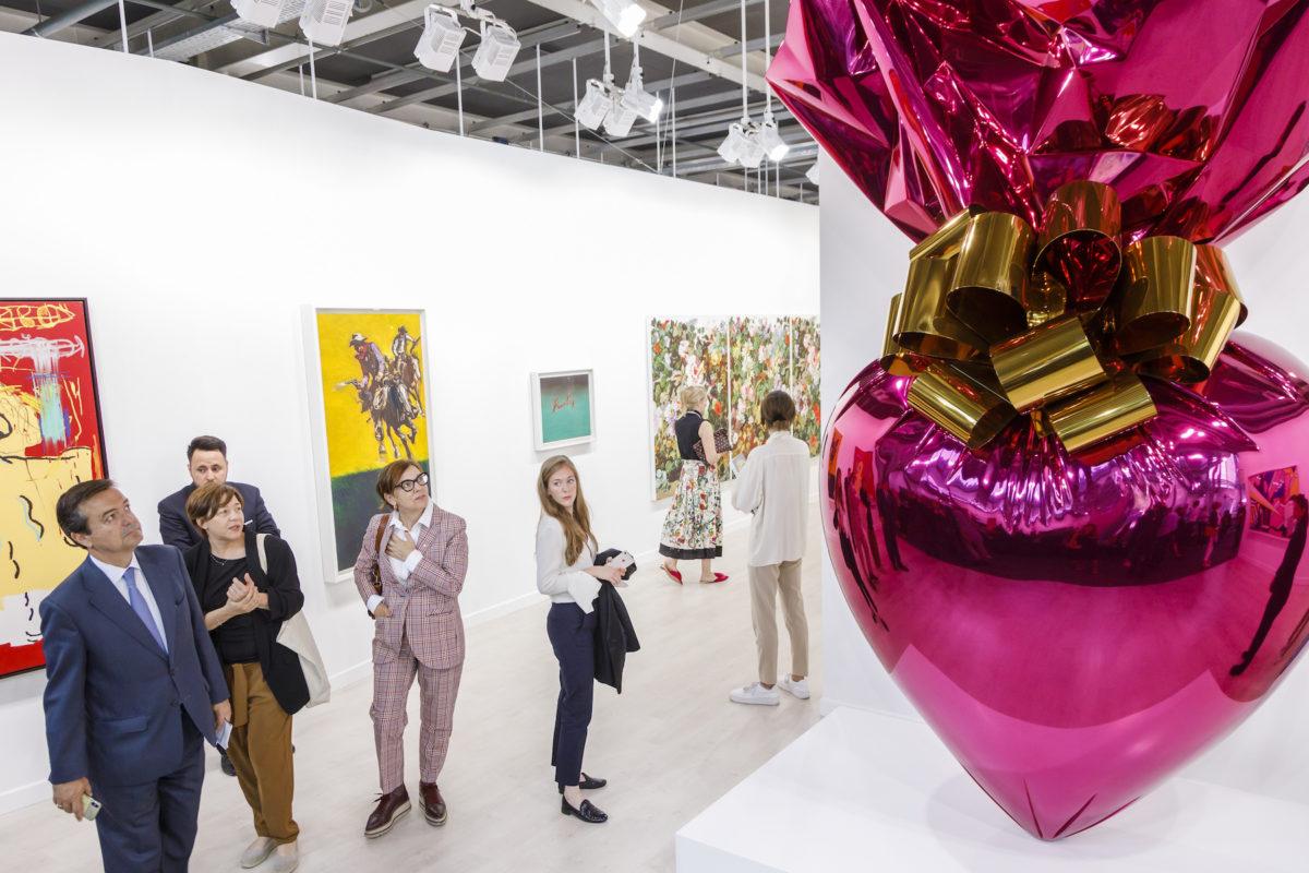Jeff Koons bei Gagosian Gallery, Courtesy Art Basel 2019