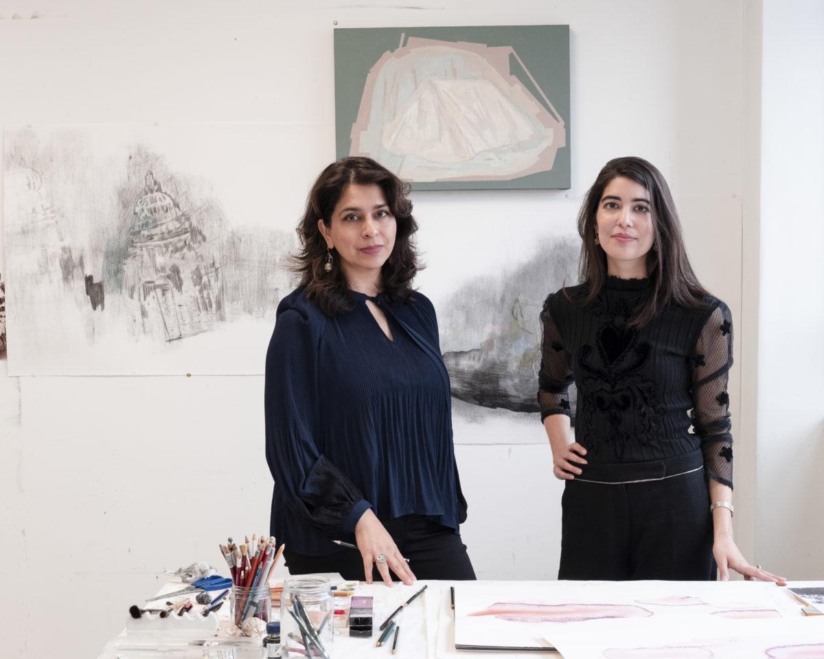Artist Naiza Khan, curator Zahra Khan. Foto Carlotta Cardana, 2019