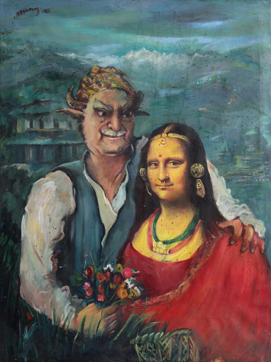 Manuj Babu Mishra, Mona Lisa and Manuj Babu, 2006 © Prithivi Bahadur Pande, Foto: Kailash K Shrestha