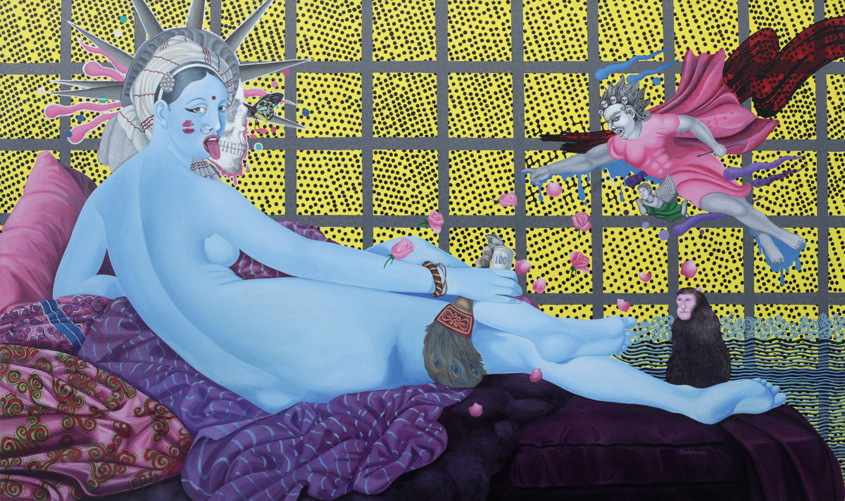 Manish Harijan, The Kali - Odalisque, 2016 © Prithivi Bahadur Pande, Foto: Kailash K Shrestha