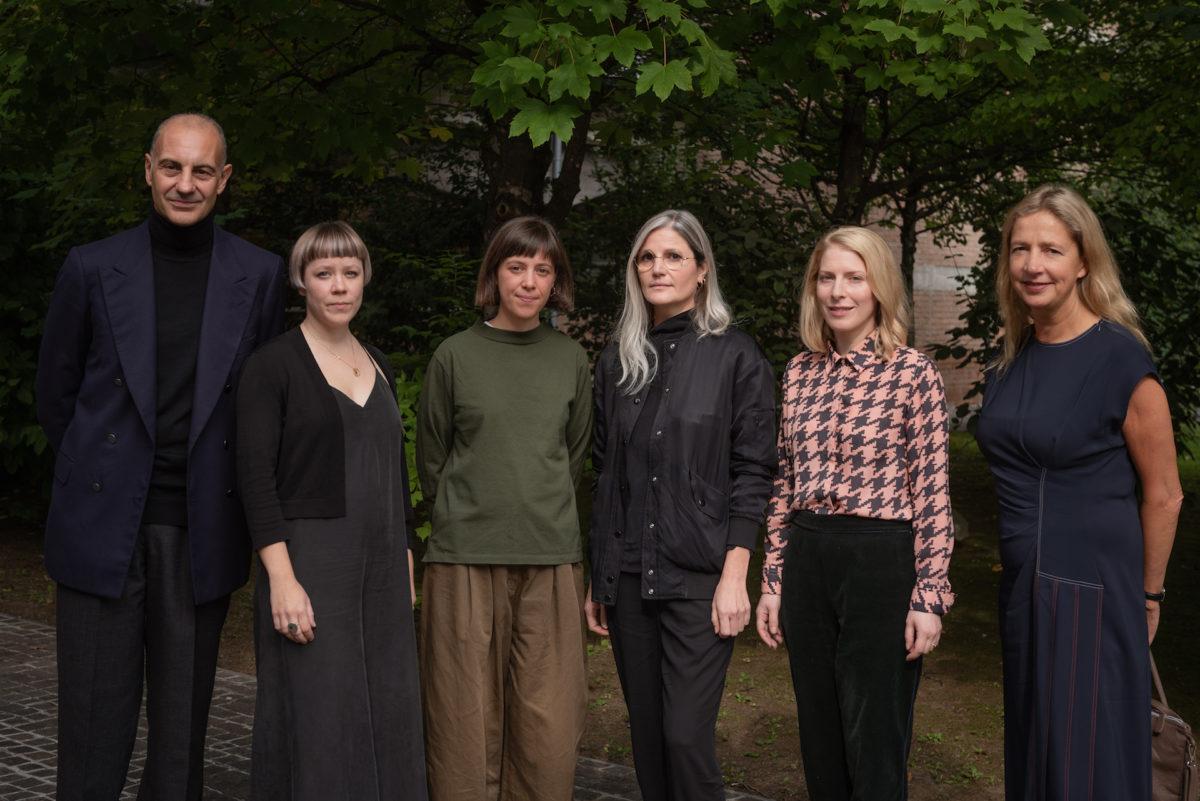 nominierte Kandidatinnen für den 8. Max Mara Art Prize for Women mit Luigi Maramotti