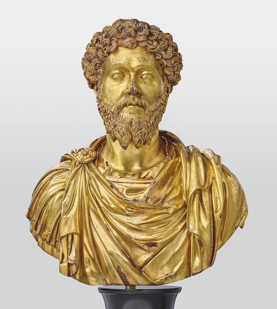 Pier Jacopo Alari-Bonacolsi gen. Antico, Büste des Marc Aurel, um 1500, Bronze, vergoldet © LIECHTENSTEIN. The Princely Collections, Vaduz–Vienna