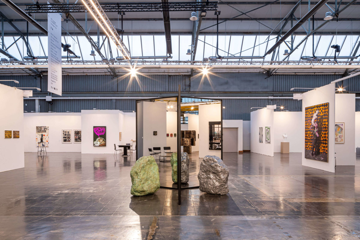 Art Düsseldorf 2019 Skulpturenplatz, König Galerie Alicja Kwade, Absorption (Dolomit), 2018 © Sebastian Drüen