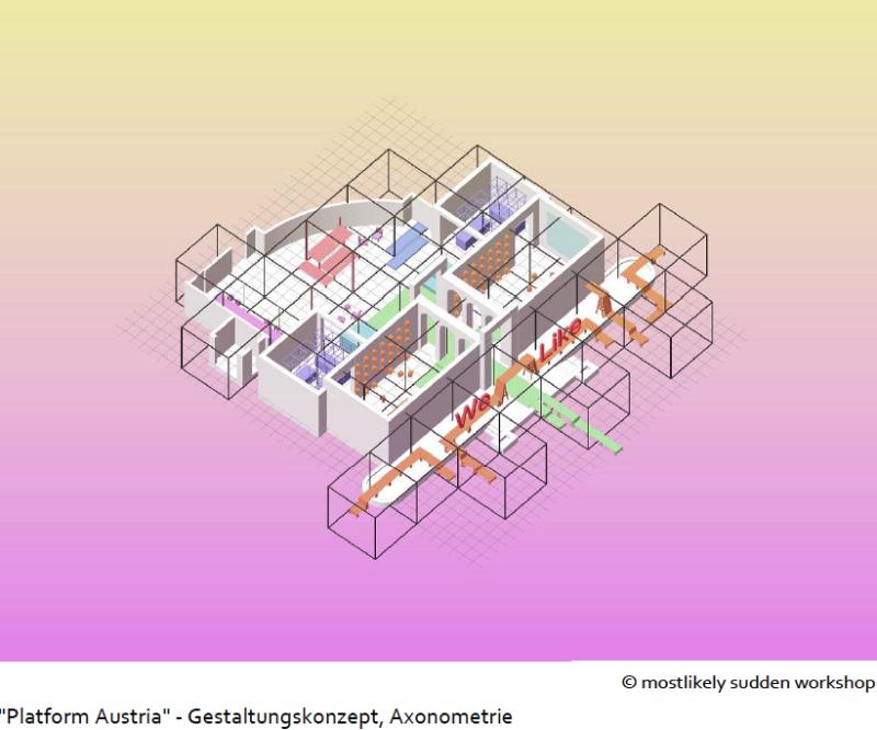 Entwurf für den österreichischen Pavillon der 17. Architektur Biennale von mostlikely