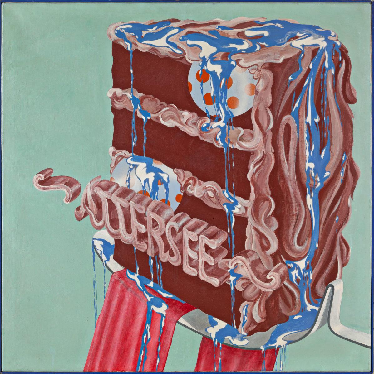 Christian Ludwig Attersee, Torte mit Speisekugeln und Speiseblau, 1967 ALBERTINA, Wien – Familiensammlung Haselsteiner © Bildrecht, Wien, 2020