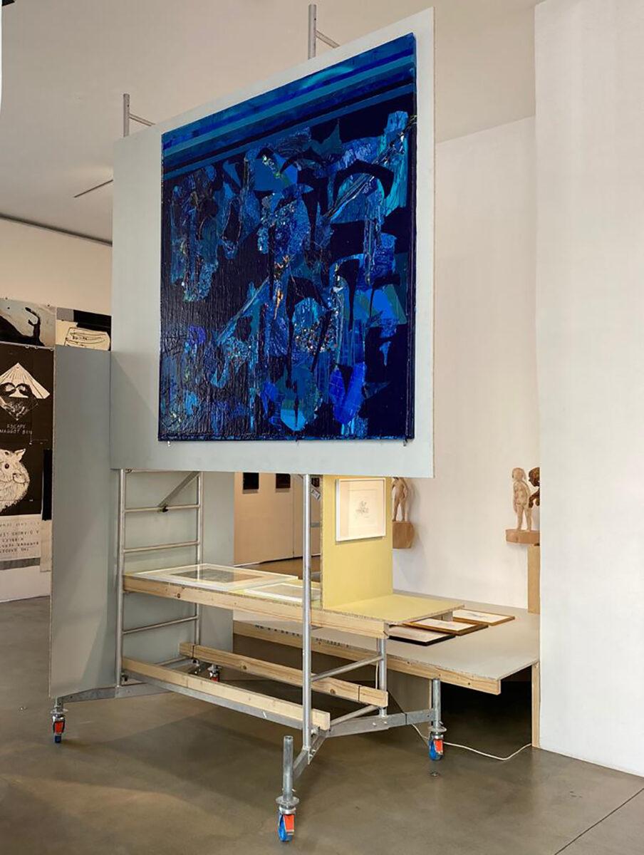 Installationsansicht mit Christina Zurfluh, Kent Monkman, Paloma Varga Weisz, Kristan Horton, Mario Mauroner Contemporary Art Vienna, 2020