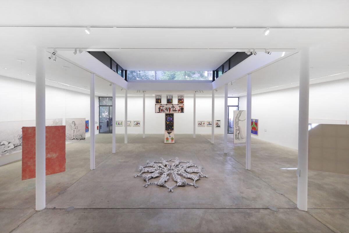 Pedro Moraleida Bernardes, Young-jun Tak, Florencia Rodriguez Giles, Installationsansicht, KW Institute for Contemporary Art,2020. Foto: Silke Briel
