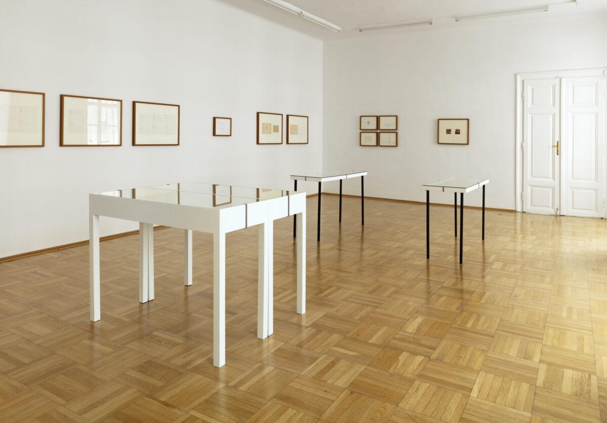 FRIEDERIKE MAYRÖCKER, Schutzgeister, Curated By Hans Ulrich Obrist, Galerie Nächst St. Stephan. Foto: Marcus Wörgötter