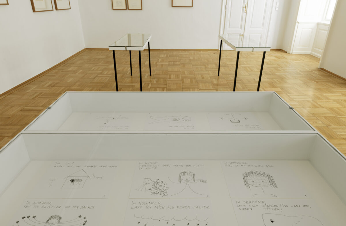 Friederike Mayröcker, Galerie Nächst St. Stephan. Ausstellungsansicht, Foto: Markus Wörgötter