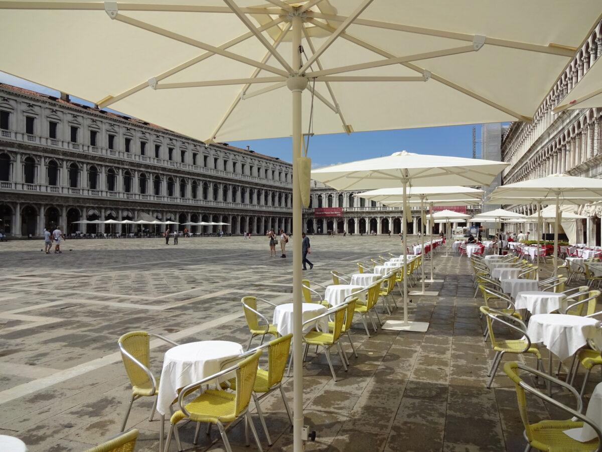 Markusplatz, Venedig Juni 2020 // SBV