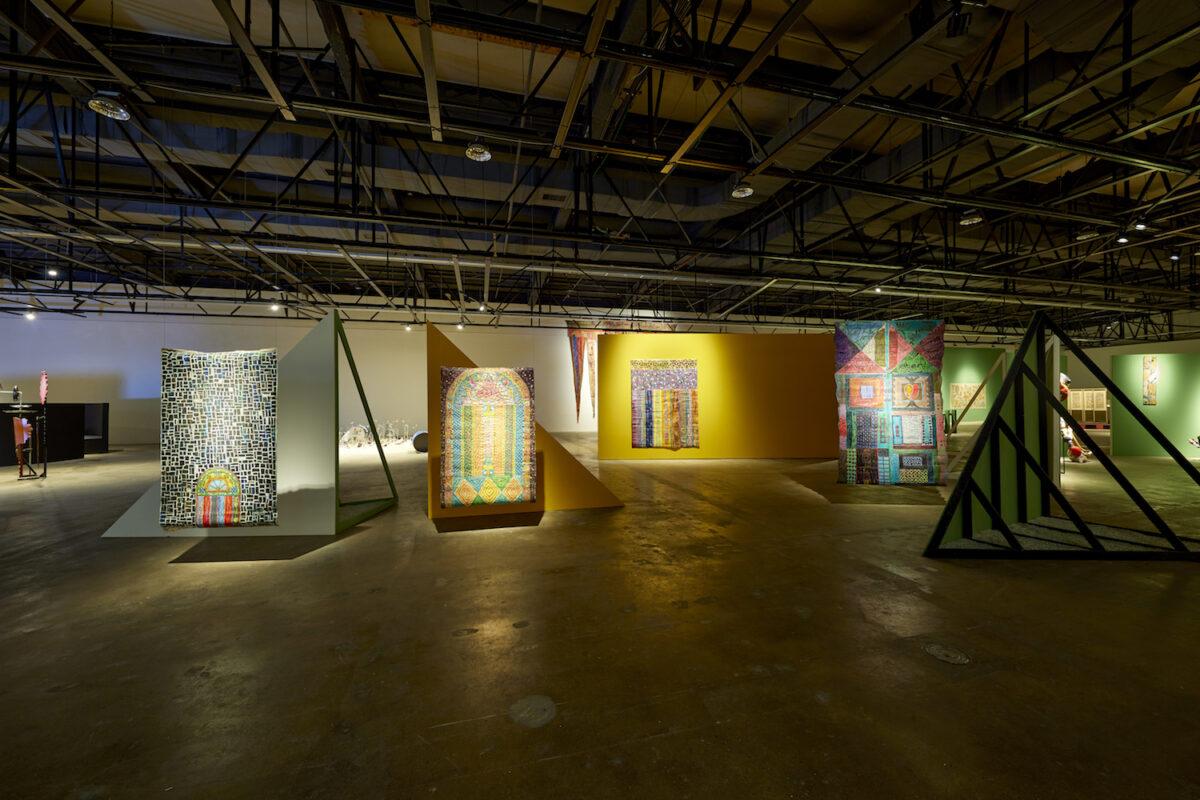 Minds Rising, Spirits Tuning, exhibition view 13th Gwangju Biennale, 2021, works by Pacita Abad, photo: Sang tae Kim