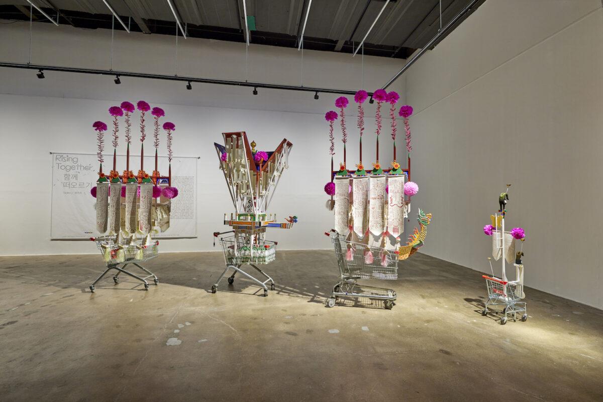Sangdon Kim, Cart, 2021, exhibition view 13th Gwangju Biennale, 2021, photo: Sang tae Kim