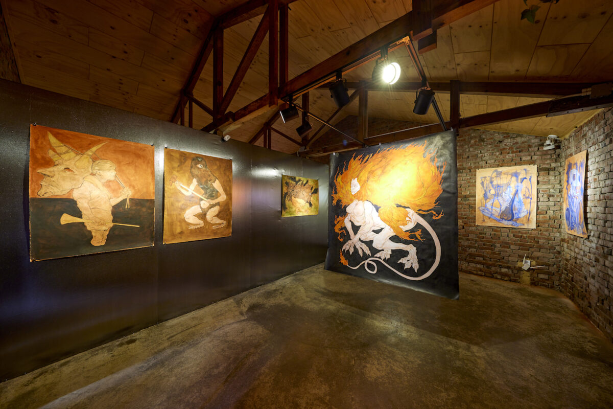 Sahej Rahal, Missing Pages series, 2018–ongoing, exhibition view 13th Gwangju Biennale, Horanggasy Artpolygon, 2021, photo: Sang tae Kim