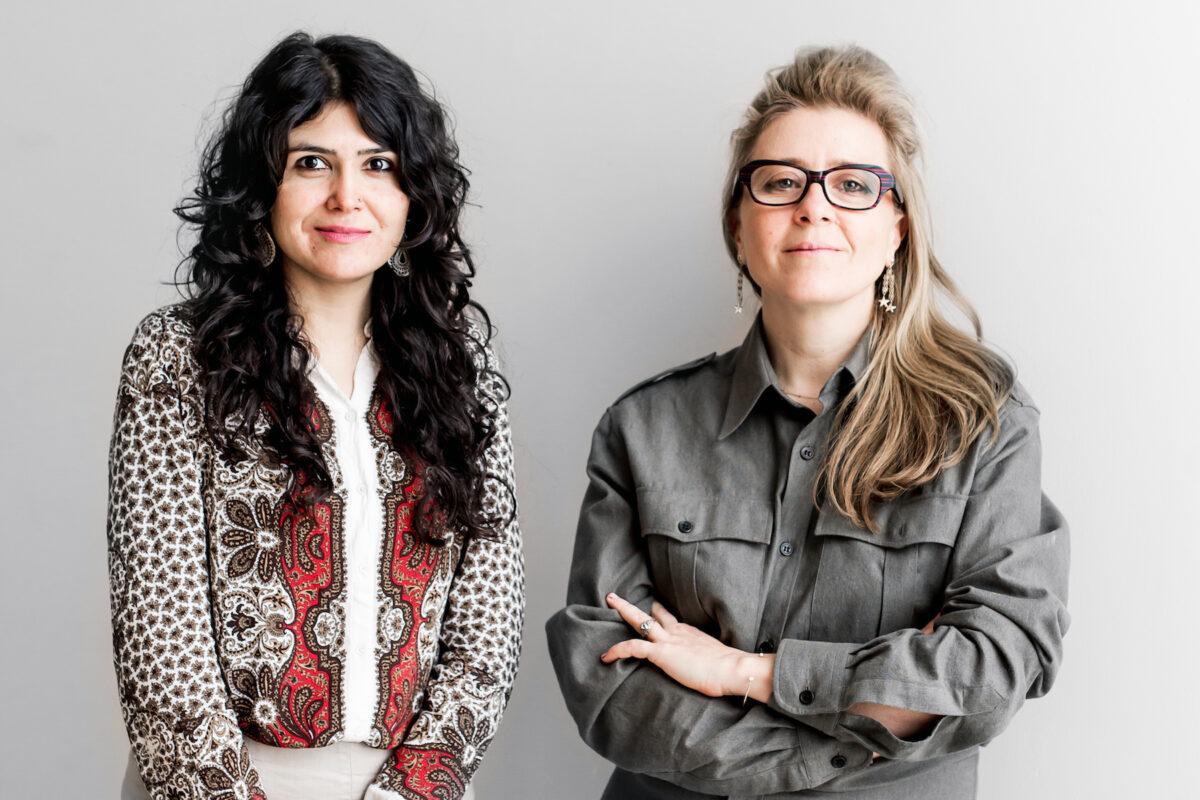 Artistic Directors Natasha Ginwala and Defne yas. Photo: Victoria Tomaschko