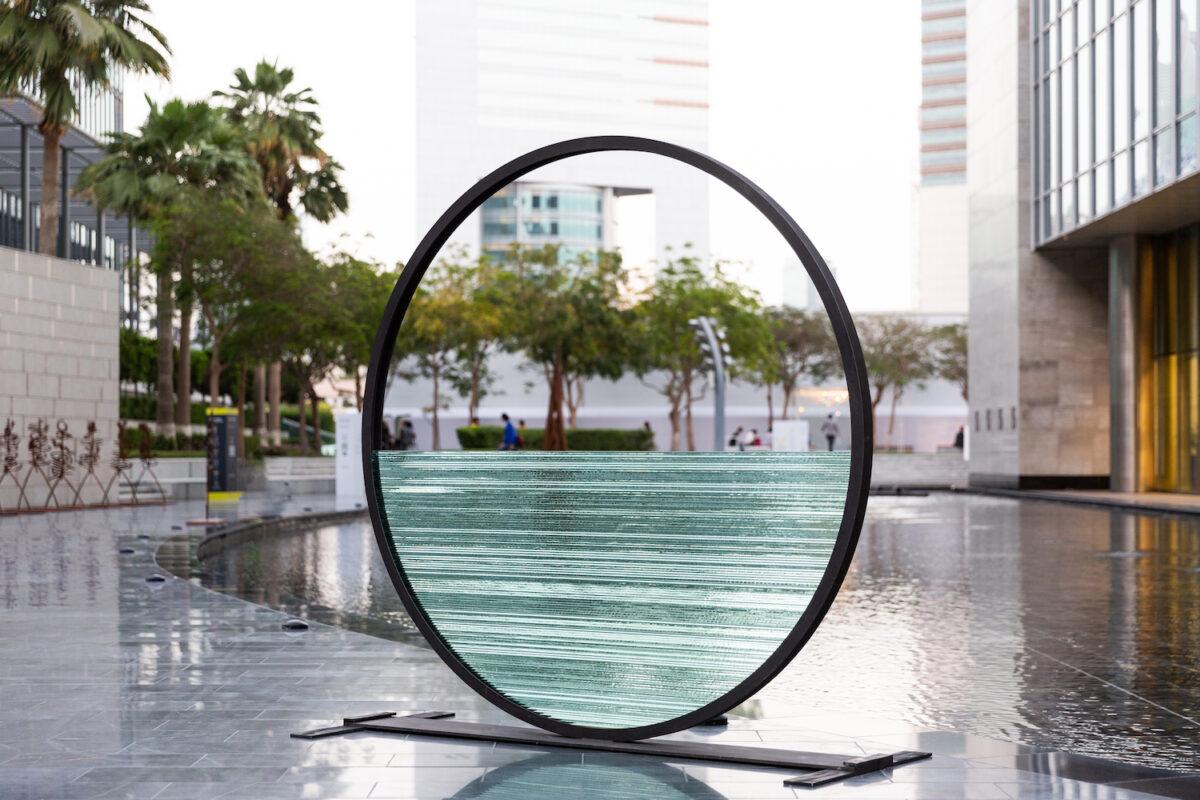Costas Varaotsos, Horizon, 1996, glass, iron, diam. Courtesy of Giorgio Persano Gallery and Art Dubai